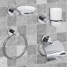 Impressions 4 Piece Bathroom Accessory Pack