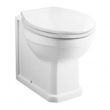Park Royal ™ Back to Wall Toilet with Sit Tight White Soft Close Moulded Wood Toilet Seat