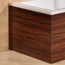 Walnut L Shape Square Bath End Panel