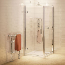Burlington 8mm 900 x 800 Hinged Shower Enclosure