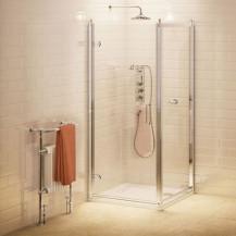 Burlington 900mm Hinged Shower Door