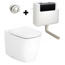 Calder Back To Wall Pan and Soft Close Seat with Concealed Cistern