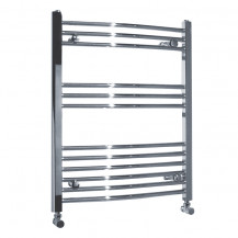 Beta Heat 760 x 500mm Curved Chrome Heated Towel Rail