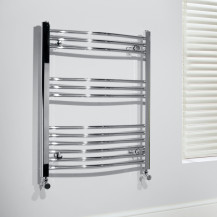 Beta Heat Electric 760 x 500mm Curved Chrome Heated Towel Rail