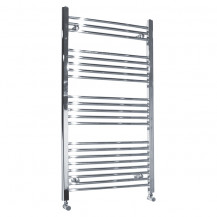Beta Heat 1150 x 500mm Straight Chrome Heated Towel Rail with Free Radiator Valves