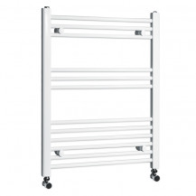 Beta Heat 760 x 600mm Straight White Heated Towel Rail