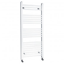 Beta Heat Electric 1150 x 500mm Straight White Heated Towel Rail
