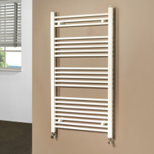Beta Heat Electric 1150 x 600mm Straight White Heated Towel Rail