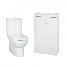 Aspen 50 Compact White with Rovigo Toilet & Seat