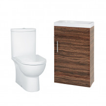 Aspen 50 Compact Walnut with Rovigo Toilet & Seat