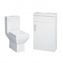 Aspen 50 Compact White with Tabor Toilet & Seat