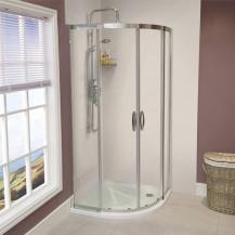 Aquafloe™ Iris 8mm 1000 x 1000 Sliding Door Quadrant Enclosure