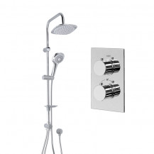 Vision Riser Slide Shower Rail Kit with EcoS9 Dual Valve & Wall Outlet