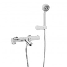 Peru Deluxe Deck Mounted Bath Shower Mixer with Rail Kit