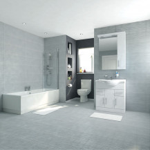 Voss Dee 75 Vanity Unit Shower Bath Bathroom Suite