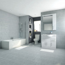 Voss Dee 85 Vanity Unit Shower Bath Bathroom Suite