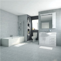 Voss Dee 105 Vanity Unit Shower Bath Bathroom Suite
