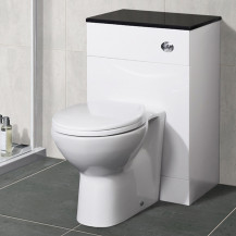 Tampa Back to Wall Toilet & Aspen Black Unit