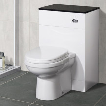 Impressions Back to Wall Toilet & Aspen™ Black Unit