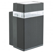 Black Outdoor Wall Light With Clear Diffuser