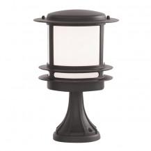 Stroud Black Bollard Outdoor Floor Light With Opal Polycarbonate Diffuser