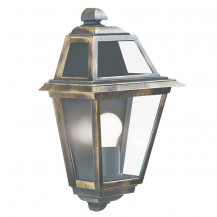 New Orleans Black & Gold Outdoor Wall Light