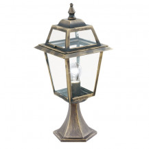 New Orleans Black & Gold Outdoor Post Light