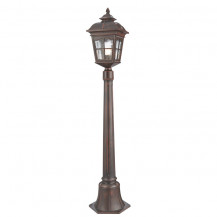 Pompeii Brown Stone Outdoor Post Light With Textured Glass