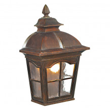 Pompeii Brown Stone Outdoor Wall Light With Textured Glass