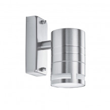Stainless Steel Outdoor Tube Wall Light With Clear Glass