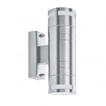 Stainless Steel 2 Light Outdoor Wall Light With Clear Glass