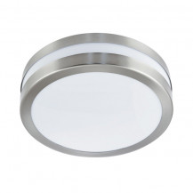 Stainless Steel 2 Light Flush Ceiling Light With Polycarbonate Diffuser