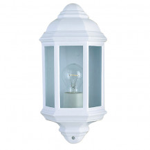 White Cast Aluminium Outdoor Wall Light With Clear Glass