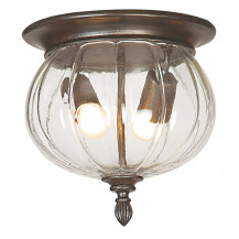Canada Weathered Brown Outdoor Ceiling Light