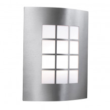 Stainless Steel Outdoor Wall Light With Square Polycarbonate Diffuser