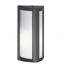 Dark Grey Half Cylinder Outdoor Wall Light With Polycarbonate Lens