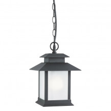 Cailtern Matt Black Outdoor Pendant Light With Frosted Glass