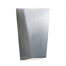 Angular Stainless Steel Outdoor Wall Light With Frosted Glass