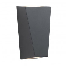 Angular Black Outdoor Wall Light With Frosted Glass