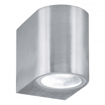 Silver Outdoor Wall Light With Fixed Glass Lens