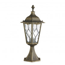 Imperial Black & Gold Outdoor Post Light