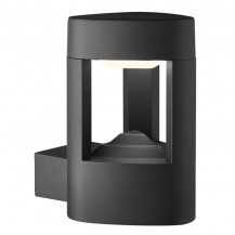 Dark Grey LED Outdoor Wall Light With Clear Diffuser