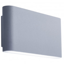 Grey Angular LED Outdoor Wall Light With Frosted Diffuser