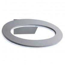 Grey Circular LED Outdoor Wall Light With Frosted Diffuser