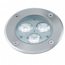 Stainless Steel 3 LED Recessed Outdoor Walkover Glass Light