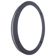 Black LED Outdoor Oval Wall Light With Polycarbonate Shade