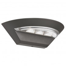 Grey LED Semi-circle Outdoor Wall Light