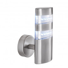 Satin Silver 24 LED Outdoor Wall Light With Clear Diffuser