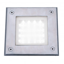 Stainless Steel Recessed Square Walkover With White LED Light