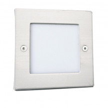 Stainless Steel Recessed Square Walkover Light With Translucent Diffuser
